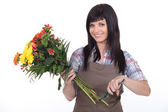 Female florist — Stock Photo