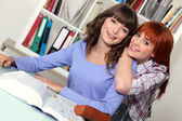 Friends studying together — Stock Photo