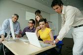 Business team having productive meeting — Stock Photo