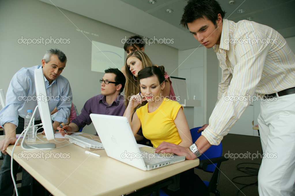 Business team having productive meeting — Stock Photo #8971847