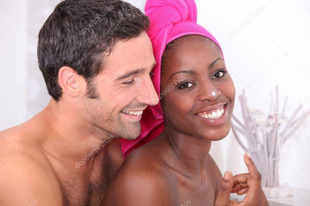 african в ванной