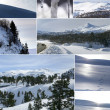 Snowy mountain — Stockfoto