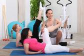 Žena v tělocviku — Stock fotografie