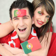 Foto de Stock  : Portugal supporters