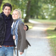 Romantic couple at autumn — Stock Photo #9041712