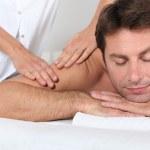 Man having a massage — Stock Photo #9042677