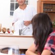Young couple in the kitchen — Stock Photo #9042699