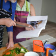 Couple cooking together — Stock Photo #9043173