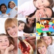 Activities with children — Stock Photo