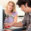 Stock Photo: Mfixing television