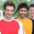 Lads at football pitch — Stock Photo