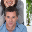 Happy couple indoors — Stock Photo