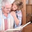 Couple cooking in kitchen — Stock Photo #9045445