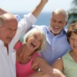 happy seniors — Stock Photo