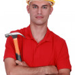Laborer with hammer — Stock Photo #9046389