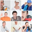 Craftsmen mosaic — Stock Photo