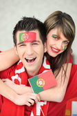 Portugal supporters — Stockfoto