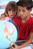 Two children in classroom — Stock Photo