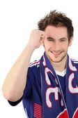 Portrait of a football fan — Stock Photo