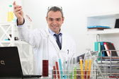 Scientist making tests in the lab — Stock Photo