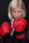 Empresaria de boxeo — Foto de Stock
