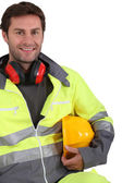 Portrait of builder — Stock Photo