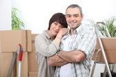 Couple moving house — Stock Photo