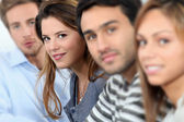 Portrait of smiling students — Stock Photo