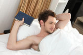 Man waking up — Stock Photo
