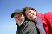 Senior couple enjoying a walk — Stock Photo