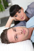 Guy ignoring his girlfriend — Stockfoto