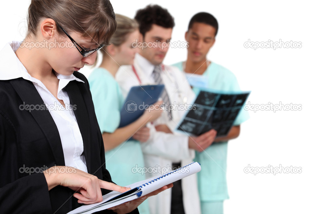 Staff in hospital — Stock Photo #9049967