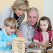 Stock Photo: Grandparents spending time with their grandchildren