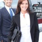 Enthusiastic businesswoman — Stock Photo #9052782