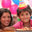 Little boy birthday party — Stock Photo