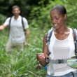 Couple hiking together — Stockfoto