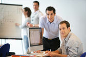 Busy businessteam planning — Stock Photo