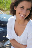 Young woman going on trip — Stock Photo