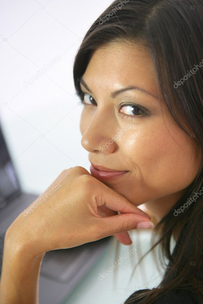 Close-up shot of a middle-aged woman — Stockfoto #9052750