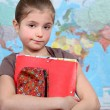 Little girl at school — Stock Photo