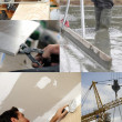 Montage of building jobs — Stock Photo