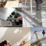 Montage of building jobs — Stock Photo