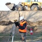 Surveyor working — Stock Photo