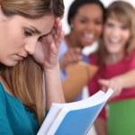 Teenage girl being bullied — Stock Photo