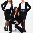 Three sexy business women — Stock Photo