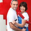 Partners decorating - Stock Photo