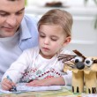 Father spending time with his little girl — Stock Photo