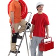 Two plumber ready to get stuck in — Stock Photo #9064759