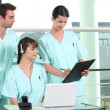 Stock Photo: Nurses in training