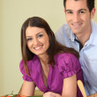 Young couple cooking in kitchen — Stock Photo #9067814